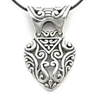Cut out silver pendant